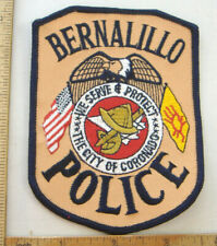 BERNALILLO NEW MEXICO  POLICE  FABRIC PATCH