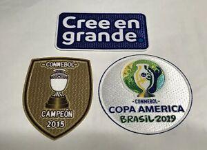 2019 CONMEBOL Copa America Brasil Soccer Football patch batch set Chile Jersey