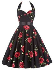 NEW Grace Karin Halter Women Sz XXXL 3XL Floral 1950s Swing Rockabilly Dress