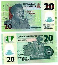 NIGERIA Billet 20 NAIRA 2016  NOUVEAU NEW POLYMER GENERAL MUHAMMED NEUF UNC