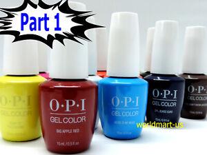 SALE!!! OPI GelColor UV/LED Gel Nail Polish 15ml/.5oz /Choose Any Colour Part 1