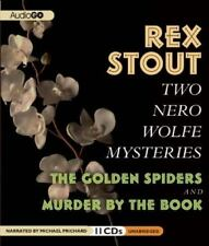 Two Nero Wolfe Mysteries: The Golden Spiders & Murder by the Book  - Audiobook