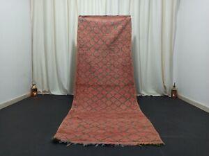 "Vintage Handmade Berber Moroccan Rug 3'3"" x 8'7"" Tribal Salmon Beniourain Carpet"
