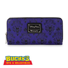 Disney Parks Loungefly Haunted Mansion Wallpaper Wallet Disneyland Purple