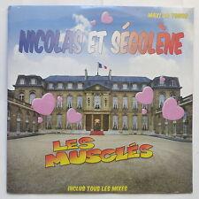 """MAXI 12"""" LES MUSCLES Nicolas et Segolene 984675 7 S/S Neuf sous cello"""