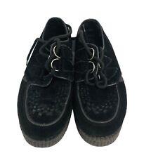 """Underground Creepers Black Suede - Size UK 6-6.5  9.5""""  Euro 39-39 Gothic"""