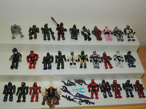 Halo & COD Call of Duty Mega Bloks figures, Elites and Grunts Lot 28 w/ weapons