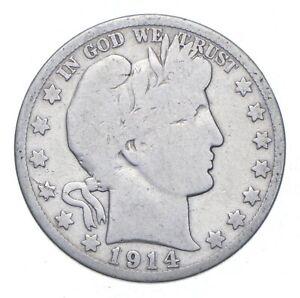 Better 1914-S - US Barber 90% Silver Half Dollar Coin Collection Set Break *163