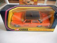 Corgi Mercedes 240D Taxi in Orange in Box (Corgi nr: 411)