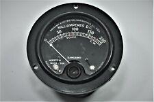 Vintage Weston Model 506 Black Face Milliamperes Panel Meter Dc 0 200 Ma 2625