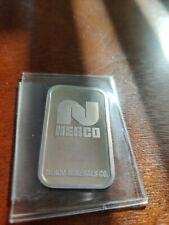 Johnson Matthey Nerco 10 Gram Silver Bar serial #1184