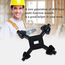 4 In 1 Universal Drill Chuck Keys Four Head Wrench Drill Power Useful Tool AZ