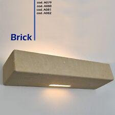 Lampada da parete artigianale in pietra di Matera o tufo Leccese -APPLIQUE BRICK
