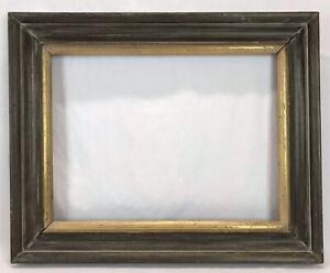 Vintage Mid Century Modern Olive Green & Gold Frame 15 x 20 Opening