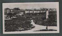 Gathering Tar  Asphalt  From Natural Pitch Lake Trinidad 1930 Trade Ad Card
