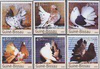 Guinea-Bissau 2476-2481 (kompl.Ausg.) postfrisch 2003 Rassetauben