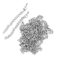 Set of 20Pcs 3mm Silver Plated Necklace Curb Chain Extender Findings FASHION