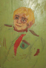 Vintage boy portrait oil painting