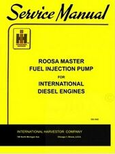 International D-236 282 361 429 573 Engine Roosa Injection Pump Service Manual