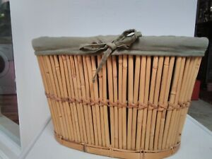 Bamboo & wood  10.5 high by 17.5 wide ,wood, toilet paper, bit & bobs basket