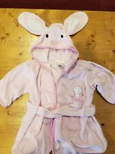 Just One Year Pink infant girls Bunny robe size 0-9mths