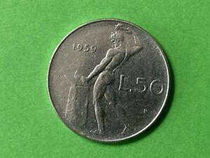 Repubblica Italiana - 50 Lire  Vulcano 1959 non Periziata