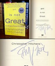 God Is Not Great HAND SIGNED by Christopher Hitchens! New Atheism! Very Rare!