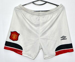 MANCHESTER UNITED 1994/1995/1996 AWAY FOOTBALL SHORTS JERSEY UMBRO SIZE S ADULT
