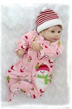 Nicery Reborn Baby Doll Soft Silicone Girl Toy 22in. 55cm Christmas Santa