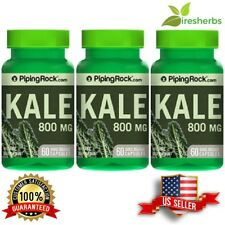 3-PACK KALE 4:1 EXTRACT 800 MG VEGETABLE DIETARY SUPPLEMENT PILLS 180 CAPSULES