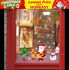 Sing Santa Christmas Wall Decals Vinyl Window Sticker Removable Xmas Decor DIY