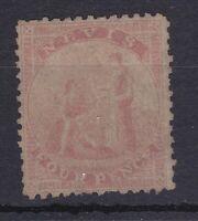 BC247) Nevis 1862 4d Rose on greyish paper SG2 MH. CV £160, price $175