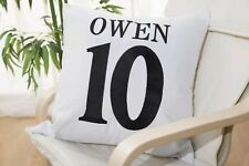 Embroidered ENGLAND OWEN NO.10  Cushion Cover Throw Pillow Case