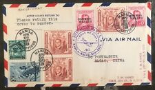 1937 Manila Philippines First Flight Clipper Cover FFC to Macao Macau China