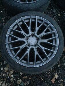 "Vw Audi Seat Mercedes ADV1 Replica 18"" Alloys Tyres Damaged Cracked Alloy Wheels"