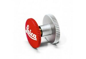 """Genuine Leica M Soft Release Button 12mm Red with """"Leica"""" lettering #14010"""