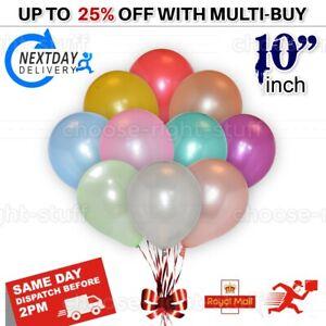"10 pcs X 10"" PEARL Metallic BALLOONS BALLON helium Party BALOON Birthday"