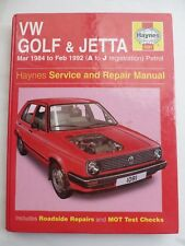 Haynes Manual  VW  Golf & Jetta Mar 1984 to Feb 1992 A to J registration petrol