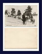 SUOMI FINLAND LAPLAND ENONTEKIO REAL PHOTO REAL PHOTO MEN, REINDEER AND SLEIGHS