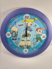 Rugrats Talking Wall Clock 1999 Official Collectible 12 inch