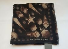 New Alexander McQueen Scarf Ghost Skull Shell Scarf