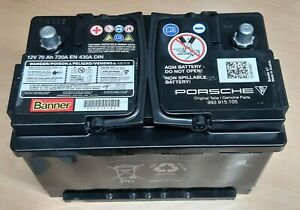 Original Banner Porsche AGM VRLA Batterie 12V 70Ah 720A 430A 992915105 18/2019