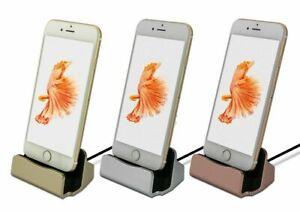 Apple iPhone Lightning Dock Dockingstation Universall iPhone Silber Silver