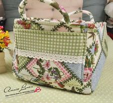 Quilted Prin Patchwork Green Past time Picnic/Storage/Laundry Basket/box/bag B01