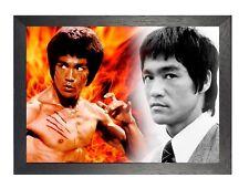 Bruce Lee 6 actor famoso director Idol leyenda artista marcial Foto Poster