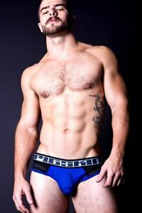 Timoteo Pigskin Prizefighter Mens Jock Straps Briefs in BLUE