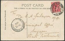 Postal History - Malaya: 1904 (JA28) ST ANDREWS [Scotland] cds on real photo PC