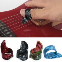 Plastic 3 Finger Picks 1 Thumb Picks Adjustable Set Nail Guitar Plectrums Guitar