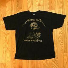 Vintage Metallica Death Magnetic World Tour Band T-Shirt Size XL Rock Black