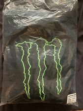 MONSTER ENERGY Pull Over Hoodie Jacket 2XL XXL BLACK RARE & Detailed . One Avail
